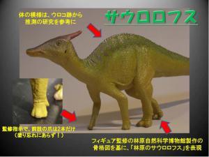 sモンゴル恐竜化石展サウロロフスフィギュア2